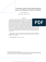SSRN-id2411493 The Role of Covariance Matrix Forecasting Method in the Performance of Minimum-Variance Portfolios
