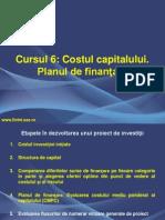 Cursul 6_Costul Capitalului_Bugetul de Capital