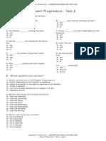 Test Present Progressive2 En