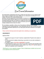 ZooTeens 2014 Application