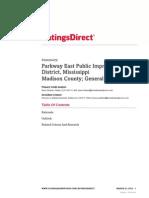 Parkway East Pub Imp Dist _ Madison Cnty 2014 Review 3-27- S&P