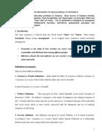 Managerial Economics Note