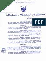 RESOLUCION MINISTERIAL N° 1272-85-ED (1)