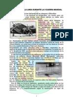 Bombardeo sobre La Línea durante la Segunda Guerra Mundial