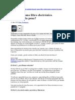 Libro electrónico análisis