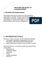 11. General Definitions Related to Information Management and Intellectual Property