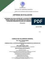 Criterios Evaluacixn Estruct Proc. Resultados Del Crum Feb 05