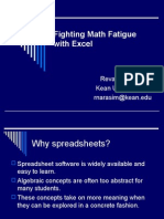 Fighting Math Fatigue With Excel