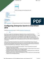 Configuring Enterprise Search