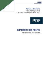 1Libro Reforma Tributaria IMPUESTO DE RENTA - Personas Jurídicas1