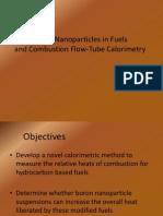 Boron Nanoparticles in Fuels