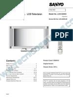 9619 Sanyo LCD-32XH3 Chassis UH1-L Televisor LCD Manual de Servicio