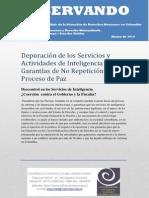Depuración de la Inteligencia  Militar y Garantias de no Repetición en el Proceso de Paz