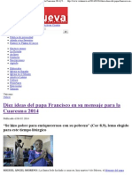 Diez Ideas Del Papa Francisco Cuaresma 2014