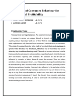 Management of Consumer Behaviour for Organizational Profitability