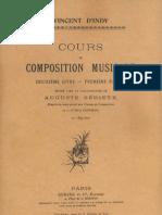 Vincent d'Indy_Cours de composition musicale - livre deuxième-première partie