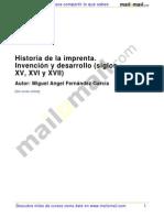 Historia Imprenta Invencion Desarrollo