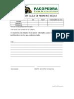CHECK LIST CAIXA DE PEDREIRO BÁSICA