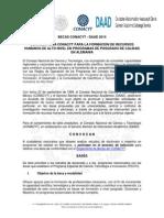 Convocatoria Becas CONACYT-DAAD 2014