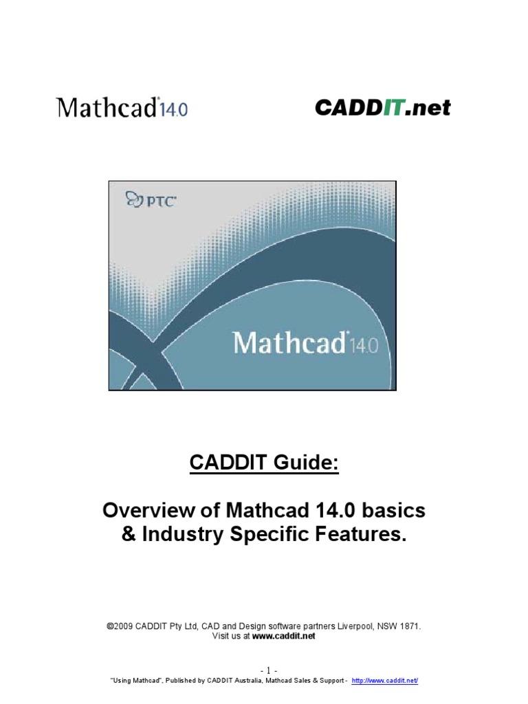 Mathcad Tutorial Introduction & Examples - CADDIT Australia | Signal ...