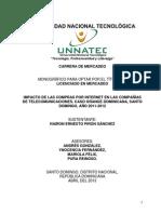 Compras via  Internet y Sus Efectos Para Las Compañias Dominicanas de Telecomunicaciones