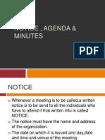 Notice , Agenda & Minutes