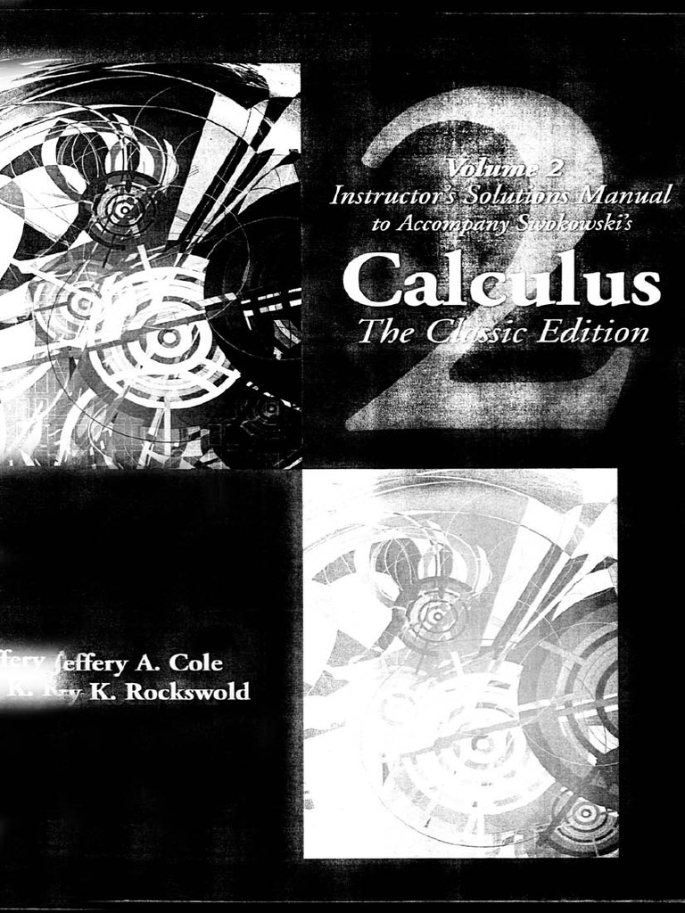 calculus solutions manual 2 rh fr scribd com Step by Step Calculus Solutions Multivariable Calculus Solutions