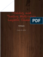 Multi Class Logistic Regression Training and Testing