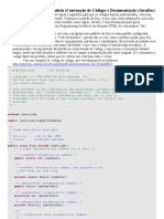 Padronização Java