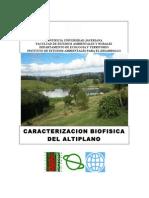 Informe de Caracterización Biofísica del Altiplano