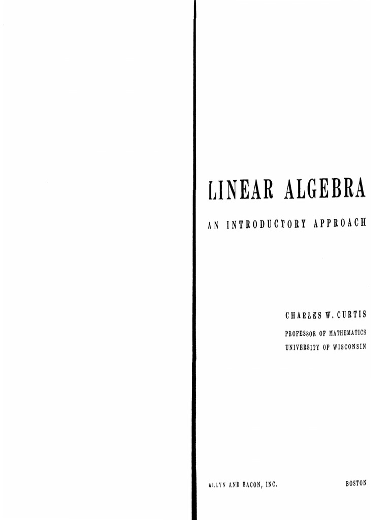 212974952 Linear Algebra an Introductory Approach Curtis