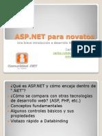 ASP.net Para Novatos