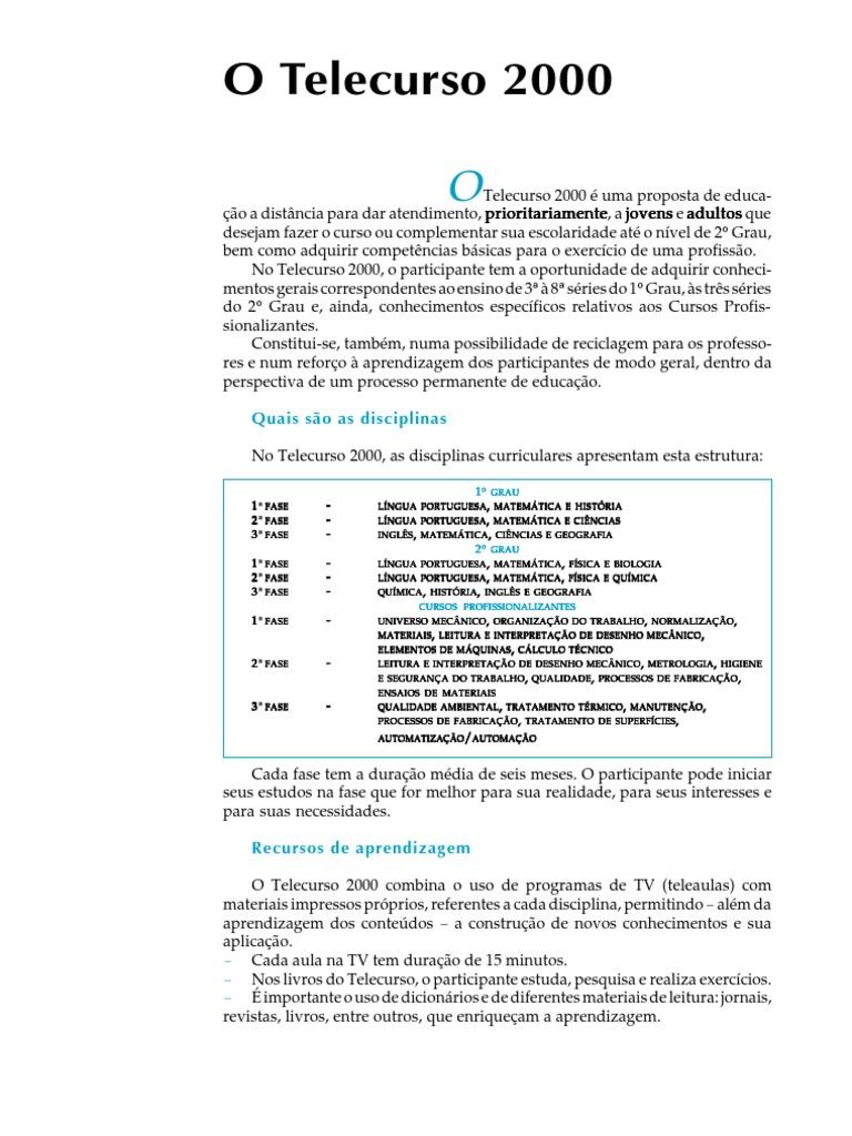 apostila telecurso 2000 matematica ensino medio pdf