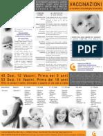 40 Dosi, 12 Vaccini, Prima dei 6 anni 53 Dosi, 14 Vaccini, Prima dei 18 anni Prima di correre il rischio, Informatevi e scoprite di che cosa si tratta!