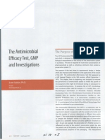 Antimicrobial Effectiveness Test GMP Investigations