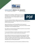 """30-03-2014 Gaceta.mx - Humo Blanco   Informe con """"pasarela""""."""