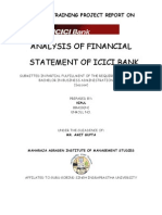 Project On ICICI Bank