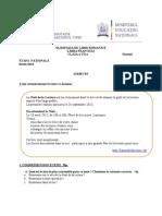 2013 Franceza Nationala Clasa a Viia Proba Scrisa Subiectebarem