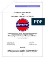 Project on Indain Oil Corporation Limited