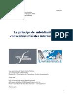 Le principe de subsidiarité des conventions fiscales internationales - Alexandra Clouté