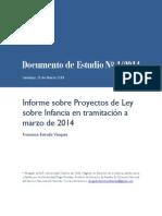 ESTRADA Documento de Estudio 1 2014 Informe Proyectos de Ley Sobre Infancia