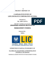 Project on LIC India