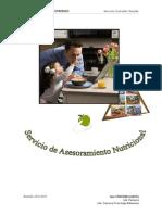 Asesoramiento Nutricional Colegio Santo Domingo 15-11-2010