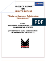 Project on Maruti Suzuki