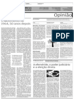 A Tribuna 31 03 2014. Editorial Sobre 50 Anos Do Golpe