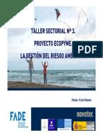 Taller 3. La gestión del Riesgo Ambiental