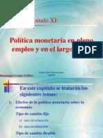 Capitulo 11 Politica Monetaria en Pleno Empleo y en Largo Plazo