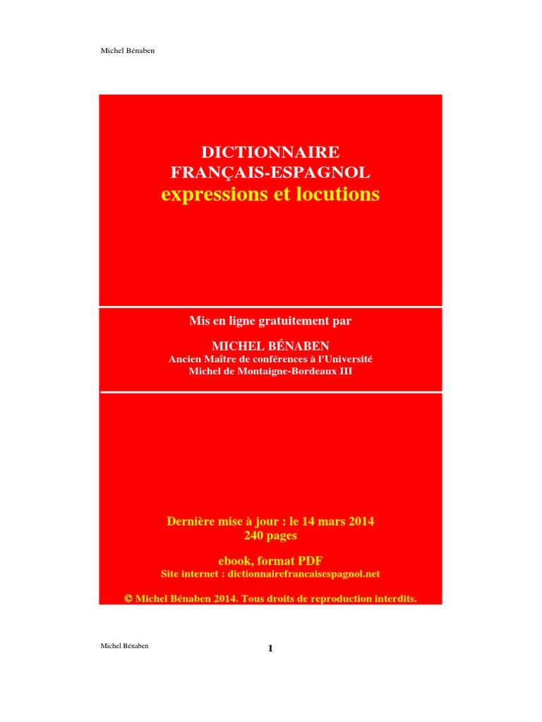 Dictionnaire Français Espagnolpdf