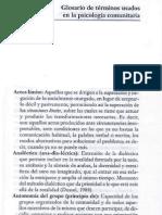 Glosario de Psicología Comunitaria