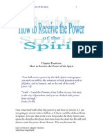 How to Receive the Power of the Spirit